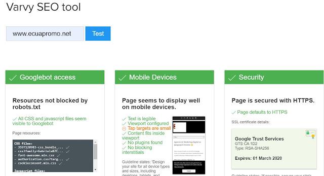 Análisis SEO ON PAGE sencillo de tu web con VARVY