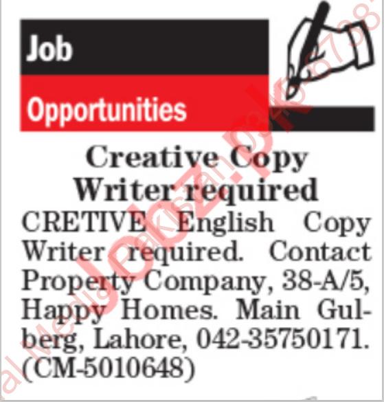 Creative Copy Writer Jobs 2021