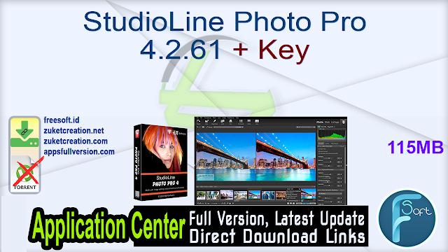 StudioLine Photo Pro 4.2.61 + Key