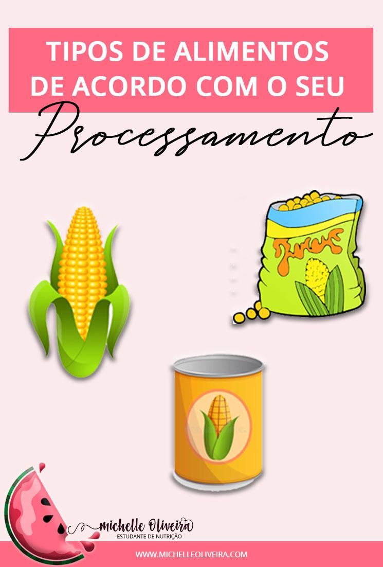 tipos de alimento de acordo com o seu processamento