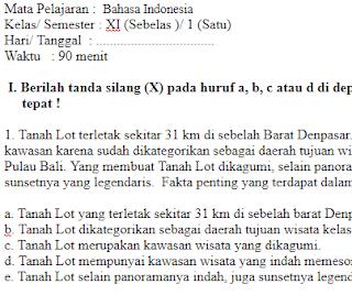 Soal-Ulangan-Ujian-Bahasa-Indonesia-kelas-11-Semester-1-UAS-Bahasa-Indonesia-kelas-11-SMA