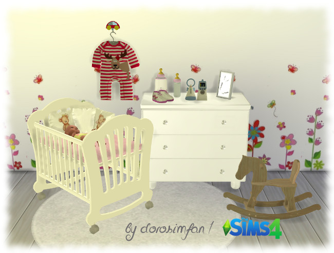 my sims 4 blog nursery set and recolors by dorosimfan1. Black Bedroom Furniture Sets. Home Design Ideas