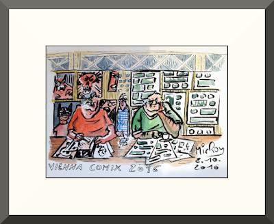 MirRoy zeichnet life auf der Vienna COMIX 2016