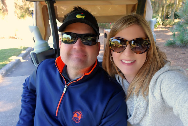 Golf Cart selfie at TPC Sawgrass in Ponte Vedra, FL