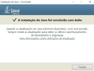 Instalação do Java Tela 4