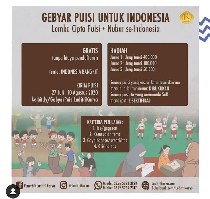 Lomba Cipta Puisi & Nubar se-Indonesia