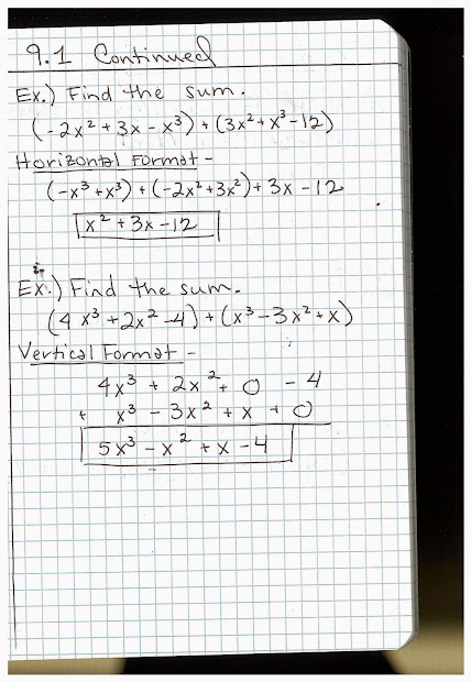 Algabera 8th Grade Math Notes - Year of Clean Water