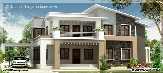 Modern mix double floor house