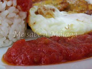 Salsa casera de tomate