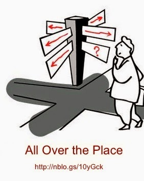 What's it mean to be 'all over the place'?