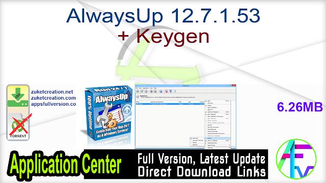 AlwaysUp 12.7.1.53 + Keygen
