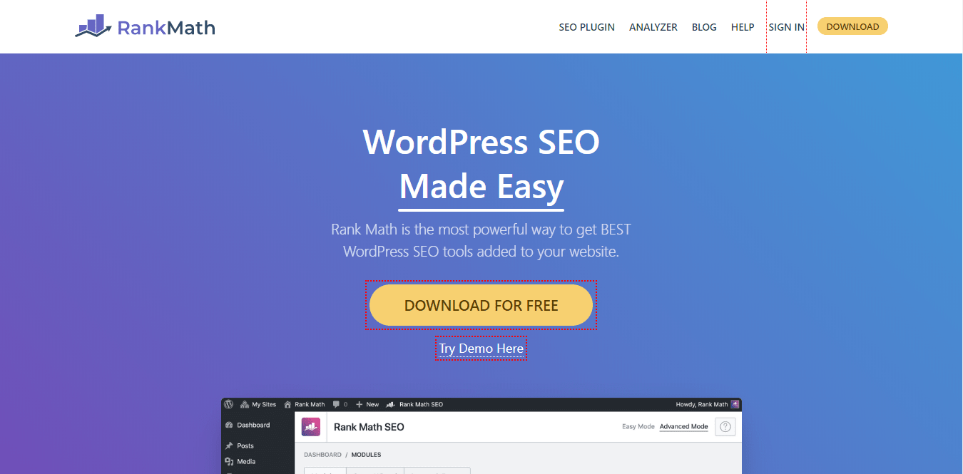 Rank Math Free SEO Plugin For WordPress