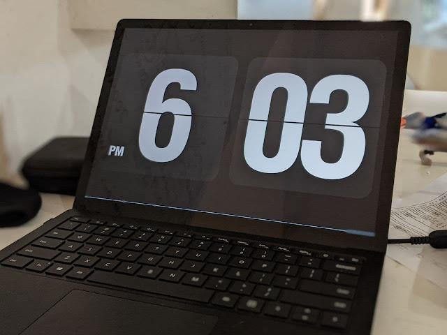 Cara Buat Tetapan Flip Clock Screensaver Pada Laptop