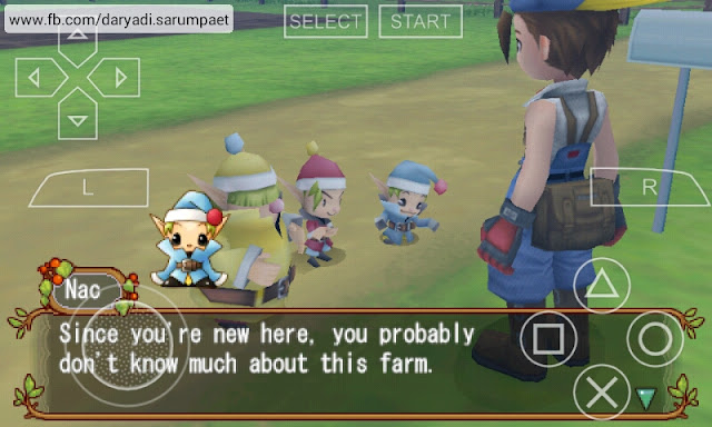 harvest moon hero of leaf valley psp game cutscene dialog