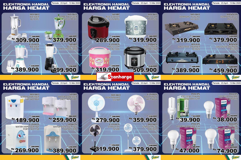 Promo Giant Produk Elektronik Harga Hemat Periode 23 April - 13 Mei 2020