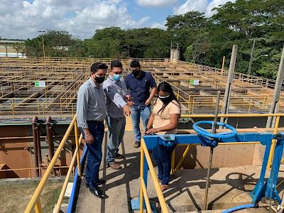 Wellington Sena realiza visita técnica no sistema de abastecimento de Teresina