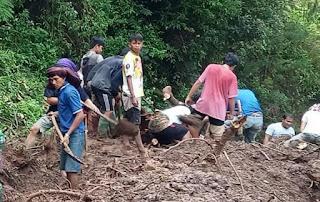 Longsor di Benteng Ka'do Akses Menuju Kapala Pitu-Rindingallo Terputus