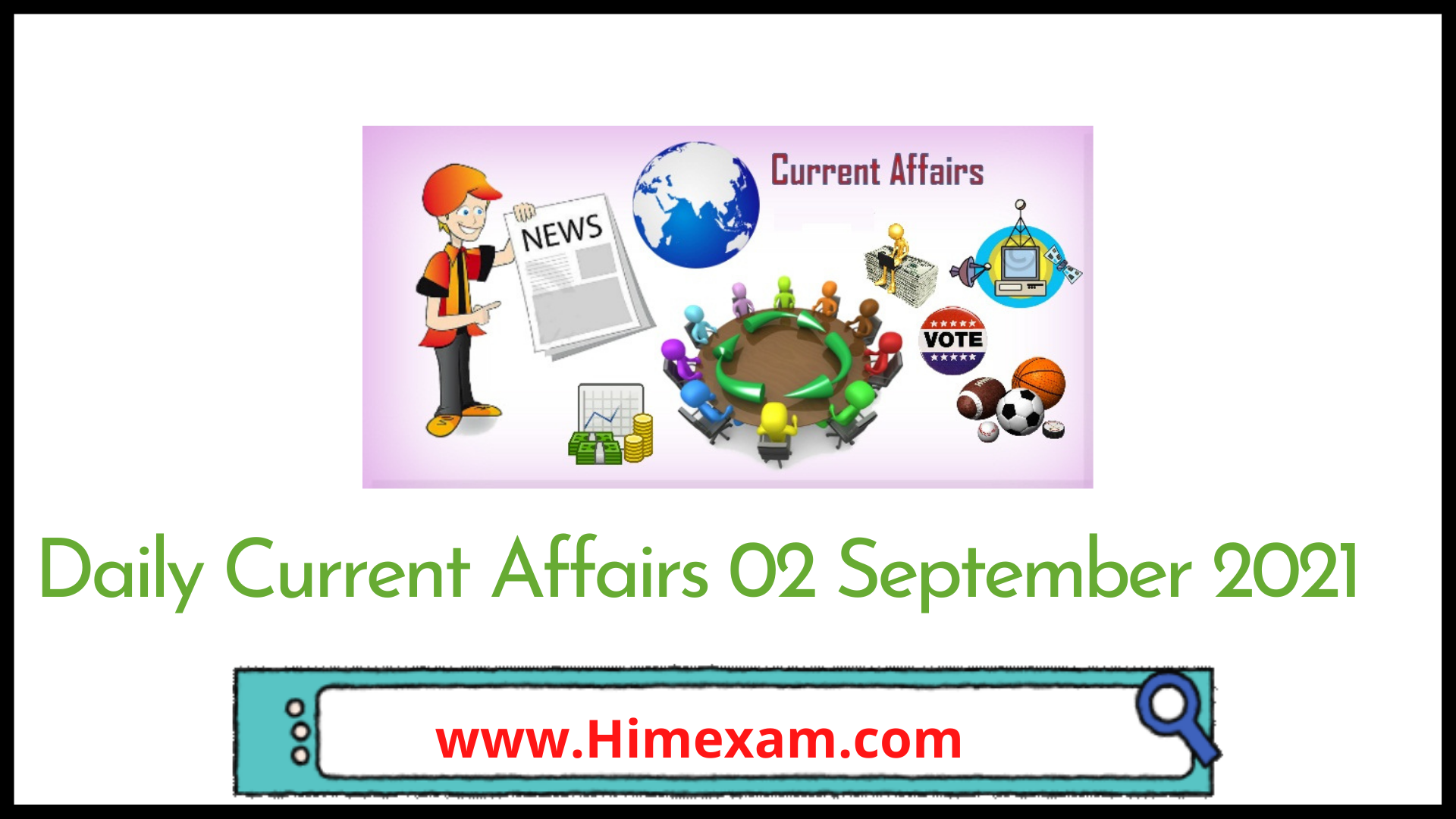 Daily Current Affairs 02 September 2021