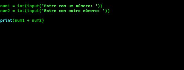 Captura entrada de dados com valores números inteiros
