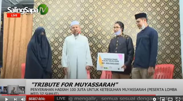 keluarga Adinda Muyasaroh, merespon kejadian yang berkembang. Abang ipar Muyasaroh, Abdul Rahman, mengatakan bahwa adiknya itu sudah memakai cadar sejak lama dan tak pernah membuka cadar di muka umum.