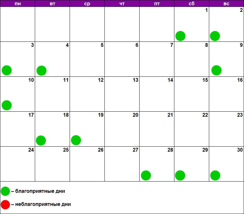 Лунный календарь массажа июнь 2019