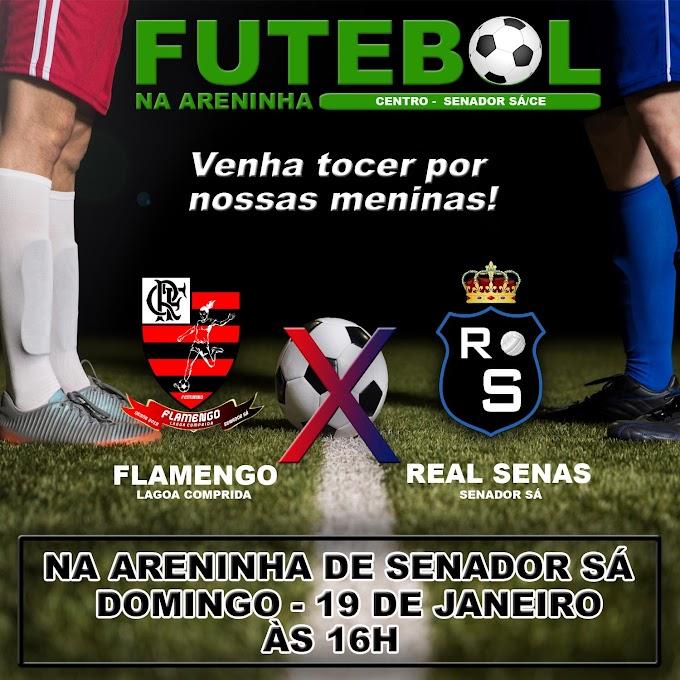Real senas vs Flamengo da Lagoa Comprida disputam no domingo, 19 de Janeiro.