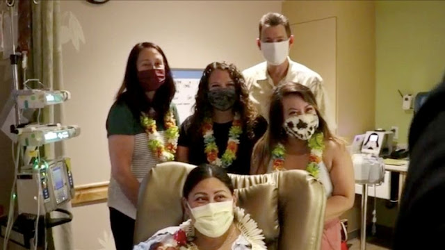 Woman who did not know she was pregnant gives birth in a Plane heading to Hawaii (Photos)