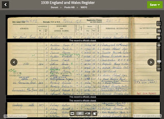 Sample from the 1939 Register