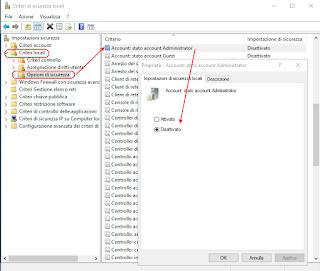 Windows 10 - Criteri di Sicurezza Locali