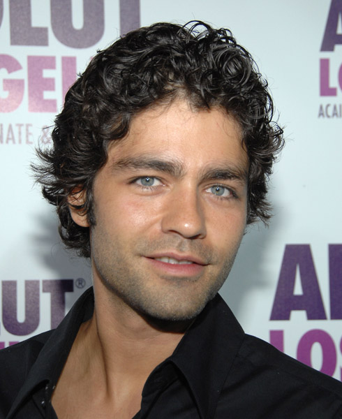 hair styles for men with wavy hair list of list of with thick eyebrows 7007 | actor adrian grenier attends the absolut los angeles launch party at the kress on july 23 2008 in hollywood california