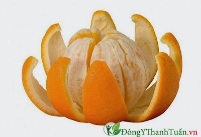 Cách trị đau họng đơn giản bằng vỏ cam