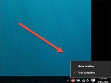 Tombol Desktop Rahasia