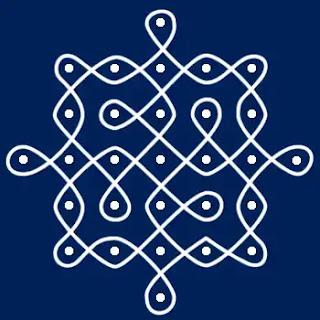 festival small Dot rangoli design