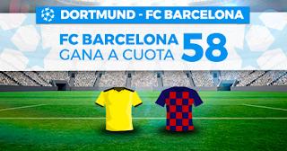 Paston Megacuota Champions Dortmund vs Barcelona 17 septiembre 2019