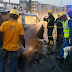 5 Die As Commercial Bus Catches Fire In Lagos [Photo]