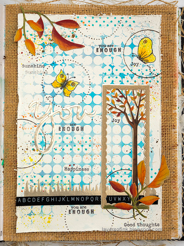 Layers of ink - Autumn Tree Colored Pencils on Kraft tutorial by Anna-Karin Evaldsson.