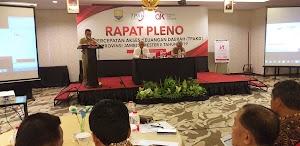Asisten II Bidang Perekonomian dan pembangunan Secara Resmi Membuka Rapat Pleno Tim Percepatan Akses Keuangan Daerah (TPKAD) Provinsì Jambi Semeter II Tahun 2019.