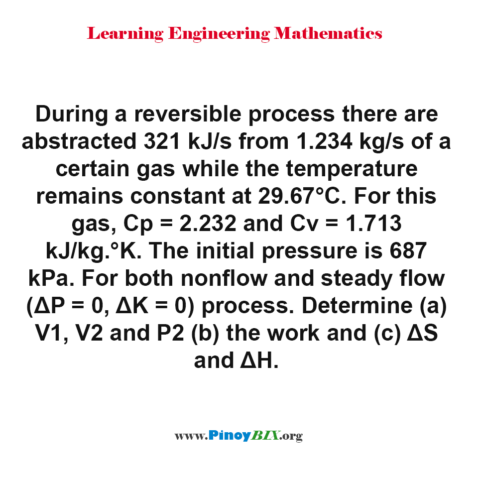 Review: Problem Solving in Isothermal Process 02