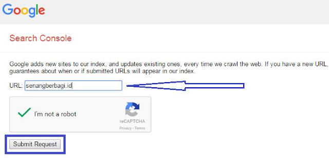 daftarkan domain ke pencarian google