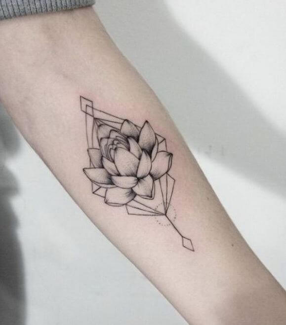 32 Best No Line Flower Tattoo Images On Pinterest: 50+ Lotus Flower Tattoo Designs For Men (2019) With