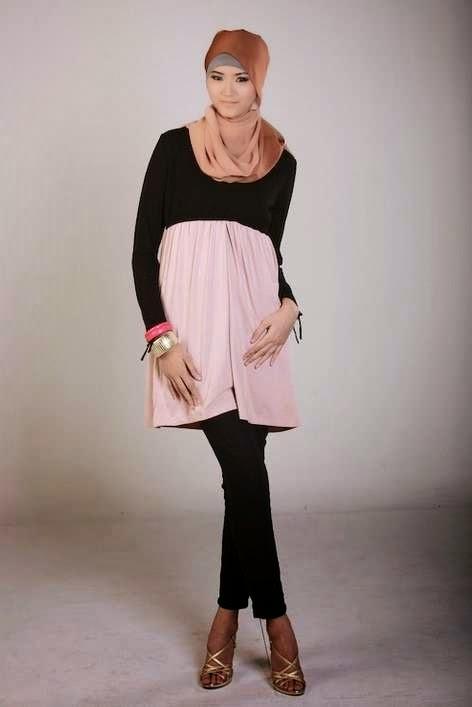 Model baju hamil muslim modern untuk pesta