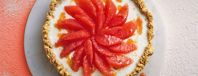 Coconut and grapefruit cake