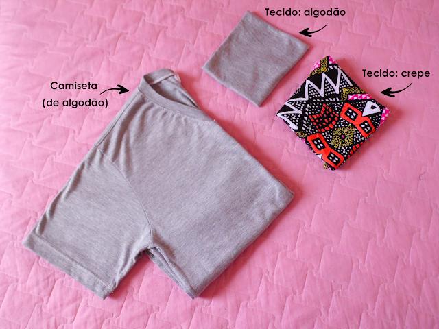 Como fazer bolso aplicado para camiset