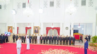 Presiden Lantik Dzul-Rohmi, Gubernur dan Wagub NTB di Istana Negara