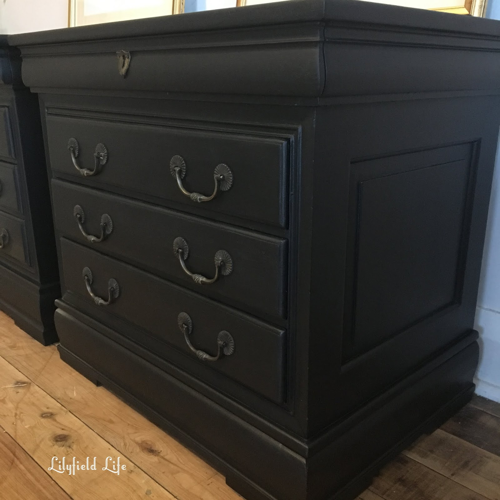 Lilyfield Life Hand Painted Black Bedside Tables By Lilyfield Life