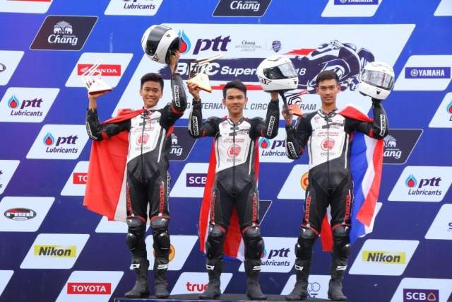 Podium Thailand Talent Cup race 2 17 Juni 2018