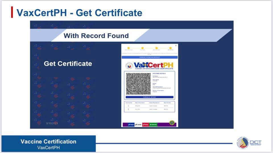 VaxCertPH Get Certificate
