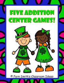 St. Patrick's Day Math Center Games Addition