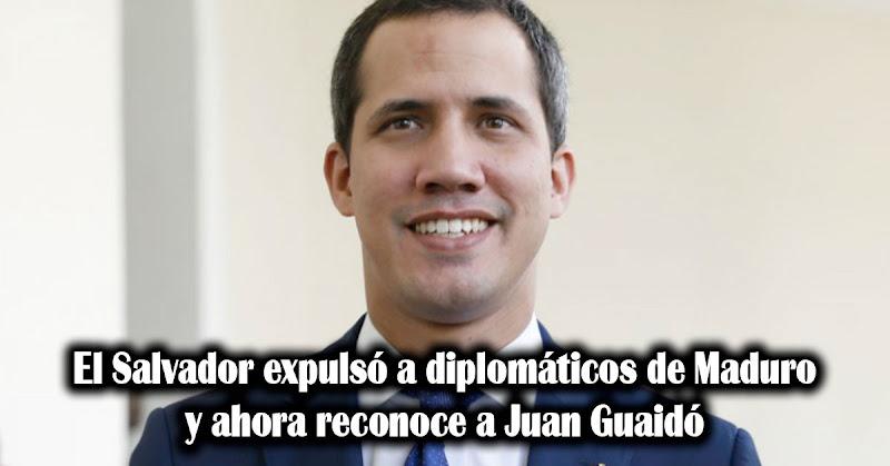 El Salvador expulsó a diplomáticos de Maduro y ahora reconoce a Guaidó