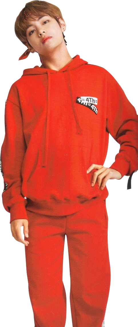 Taehyung 12, man in red pullover, png free png